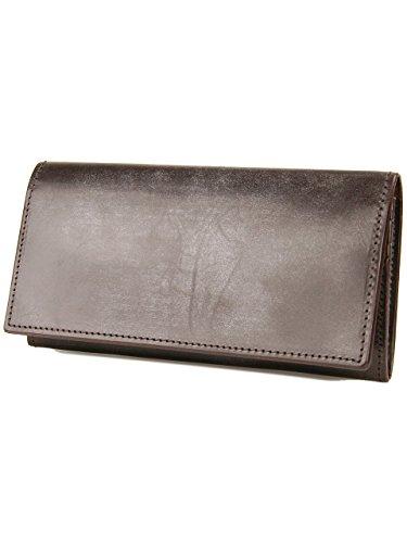 [コルボ] CORBO. メンズ 長財布 二つ折り 1LD-0224 フェイス ブライドルレザー シリーズ face Bridle Leather ダークブラウン CO-1LD-0224-93