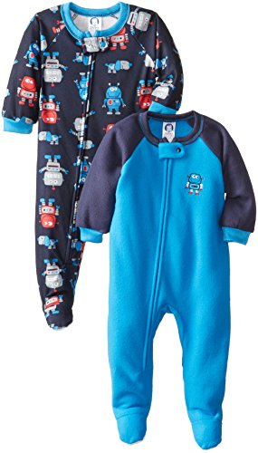 Gerber Baby-Boys Infant 2 Pack Blanket Sleeper, Robots, 24 Months front-252638
