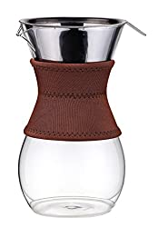 """Osaka Pour-Over Drip Brewer, 6 Cup (27 oz) Glass Carafe with Permanent Stainless Steel Filter """"Itsukushima"""" made by Osaka"""