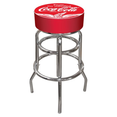 Trademark Vintage Style Pub Stool, Red back-968736