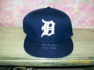 DENNY McLAIN SIGNED DETROIT TIGERS HAT 1968 31-6 - Autographed MLB Helmets and Hats by Sports+Memorabilia