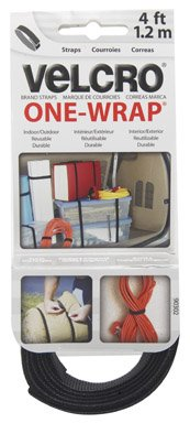 """Velcro Brand - One-Wrap: For Cables, Wires & Cords - 4' X 3/4"""" Roll - Black front-426506"""
