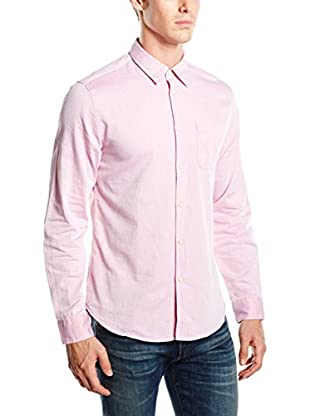 Springfield Camisa Hombre Herringbone Solid (Rosa)