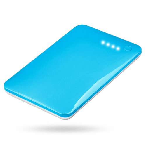 Andream 10000Mah Ultra-Thin 0.43 Inches External Lithium Polymer Battery Charger Under Security Protection Blue Lp-1004A