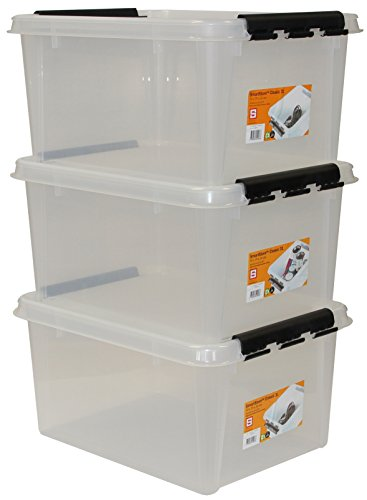 Orthex-35100703-3er-Set-Clipbox-Smart-Store-Classic-31-32-Liter-transparent