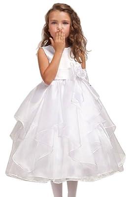 KID Collections Girls' Satin Sleeveless Flower Girl Dress