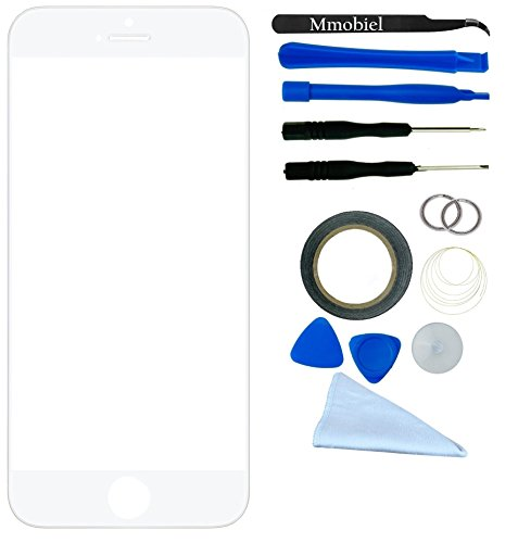 Apple Iphone 6 Plus White Display Touchscreen Replacement Kit 12 Pieces Including 1 Replacement Front Glass For Iphone 6 Plus A1522 A1524 / 1 Pair Of Tweezers / 1 Roll Of 2Mm Adhesive Tape / 1 Tool Kit / 1 Microfiber Cleaning Cloth / Wire