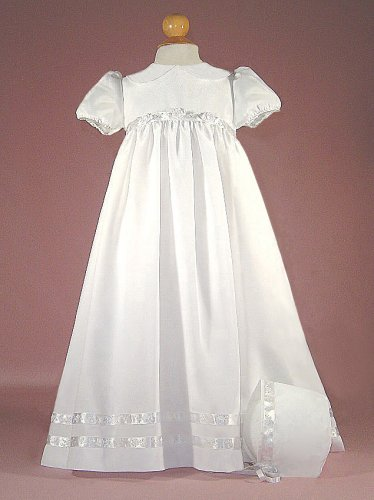 Satin Back Crepe Christening Gown with Rounded Collar - Buy Satin Back Crepe Christening Gown with Rounded Collar - Purchase Satin Back Crepe Christening Gown with Rounded Collar (LD Creations, LD Creations Apparel, LD Creations Toddler Girls Apparel, Apparel, Departments, Kids & Baby, Infants & Toddlers, Girls, Skirts, Dresses & Jumpers, Dresses)