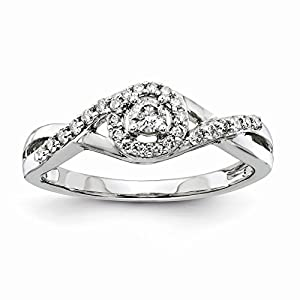 14k White Gold Diamond Complete Engagement Ring