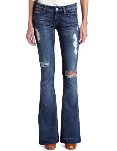 7 For All Mankind Women's Jiselle Contoured Jean, Medium Worn Morea, 29