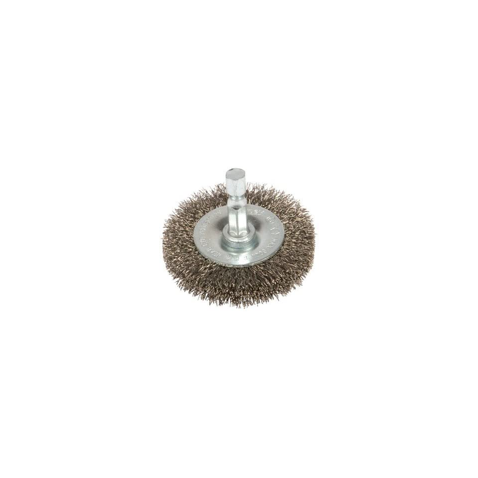 1-1//2-Inch Forney 72726 Wire Wheel Brush Fine Crimped with 1//4-Inch Hex Shank