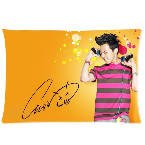 Wholesale Soft Cotton Pillowcase Covers Decorative Cushion Covers 2 Sides 20 X 30-Korea Hot Singer Fashion Icon G-Dragon Cool Picture-1 front-1059437
