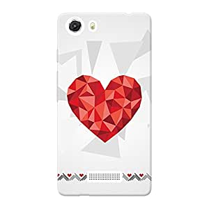 INKIF Eiffel Tower Designer Case Printed Mobile Back Cover for Micromax Unite 3 Q372 (Red)