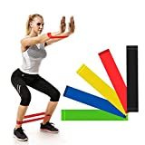 IDEALUX 11PC Resistance Band Set, Fitness Bands with Door Anchor, Workout Bands for Resistance Training, Physical Therapy, Home Workouts,Set of 5.