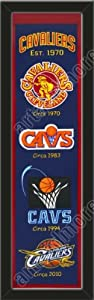 Heritage Banner Of Cleveland Cavaliers-Framed Awesome & Beautiful-Must For A... by Art and More, Davenport, IA