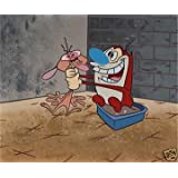 """Ren & Stimpy Animation Art Cel Sericel Limited Edition """"All Choked Up"""" Nickelodeon Seal & COA ~ Nickelodoen"""