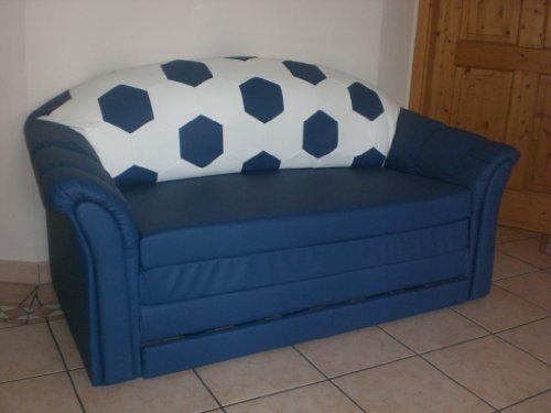 Sofa 2-sitzer im Fussball Design weiß blau