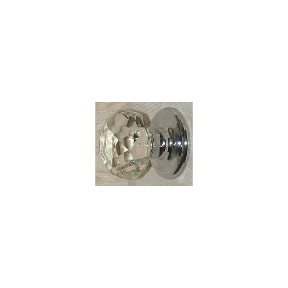 French Antique Diamond Cut Crystal Knob Passage Door Knobset limited supply of this high quality, premium product