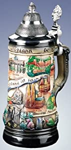 Zoeller & Born German Beer Stein Germany is Beautiful from Zoller & Born