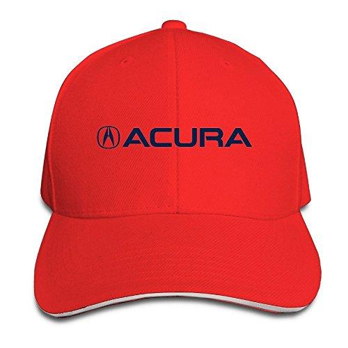 xcarmen-runy-acura-logo-adjustable-hunting-peak-sandwich-hat-cap-red