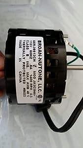 Nutone Fan Motor 86322000; 1400 rpm, 0.8 AMPS, 115 v 60HZ