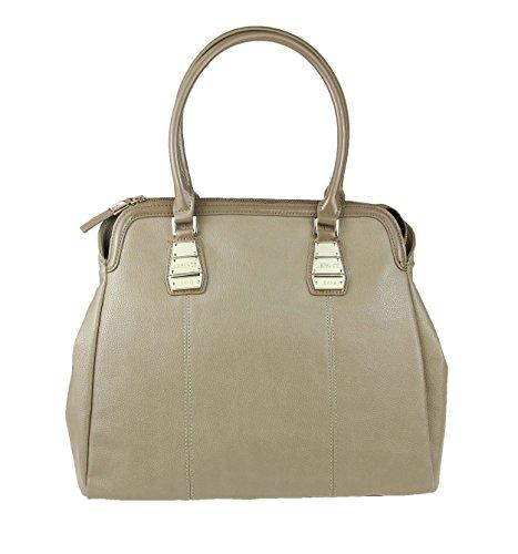 Versace Jeans Couture Tasche Handtasche Schultertasche Businesstasche Umhängetasche Bowlingtasche Bag (Beige)