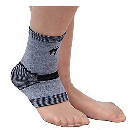 Reach IOT Foot Compression Socks Ankle Sleeves Heel Arch Support Fits for Men & Women ,Bamboo Carbon Fiber,Suitable for Runners,Cross Training,Etc.,One size fits most(1 Pair)