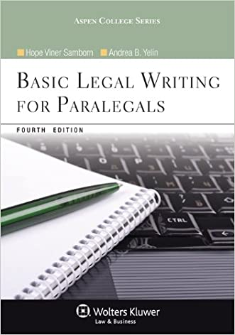 Basic Legal Writing for Paralegals, Fourth Edition (Aspen College)