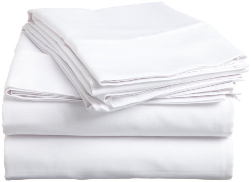 Impressions Genuine Egyptian Cotton 400 Thread Count Twin 3-Piece Sheet Set Solid, White front-912144