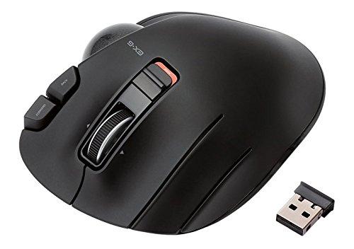 ELECOM マウス トラックボール ワイヤレス 左手用 握りの極み 6ボタン ブラック M-XT4DRBK