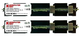 Komputerbay 8GB (2x 4GB) DDR2 PC2-6400F 800MHz ECC Fully Buffered FB-DIMM (240 PIN) 8 GB w/ Heatspreaders for Apple computers