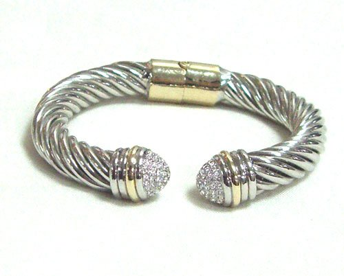 Designer Inspired Hinged Cable Bracelet