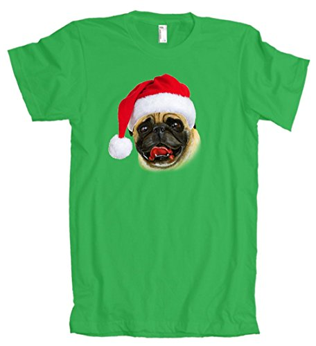 American Apparel: Christmas Pug Santa Hat Cute T-Shirt