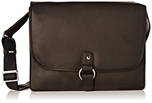 Visconti Leather Messenger Bag / Briefcase for the Office - 18797 - Oil Black