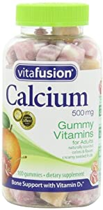 Vitafusion Calcium, Gummy Vitamins For Adults, 500 mg, 100-Count