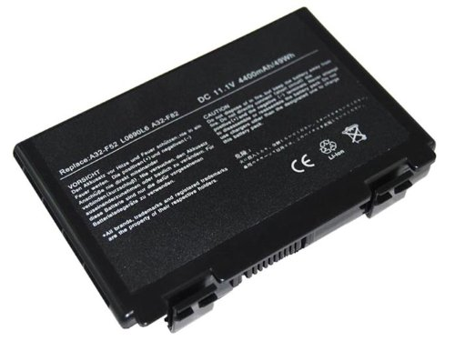 Laptop Battery for ASUS F52 F82 F83S K40 K40E K40IJ, Battery Part Number: 90-NVD1B1000Y, A32-F52