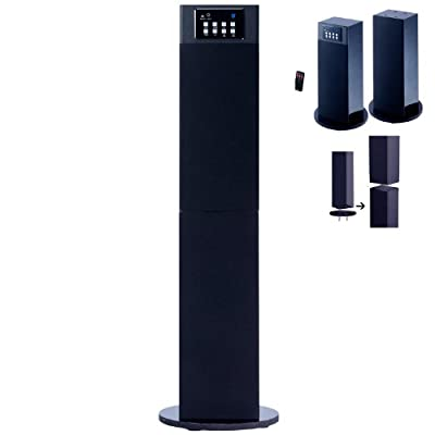Click for Stereo Home Theater /Tower Speaker System With Bluetooth Wireless Technology