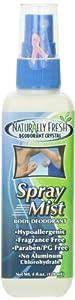 Naturally Fresh Deodorant Crystal Spray Mist, 4-Ounce Bottles (Pack of 6)