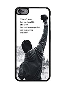 6S 4.7 Phone Case,Rocky Balboa Motivational Words Popular Gifts TPU Case Cover for iPhone 6 & 6S (Black) at Gotham City Store