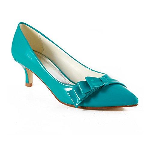 Miyoopark - Sandali con Zeppa donna , blu (Blue-5cm Heel), 41