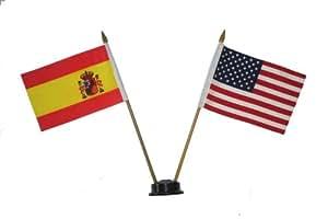 Usa Spain Espana Small 4 X 6 Inch Mini