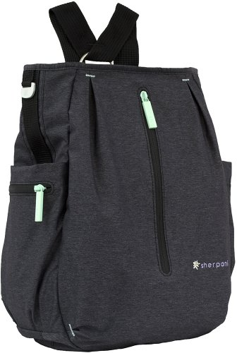 Sherpani Quest Multipurpose Backpack, Heather Black, One Size