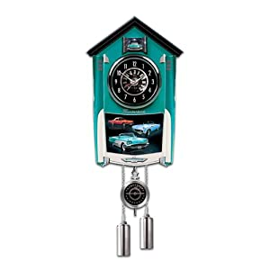 Ford thunderbird cuckoo clock lights up with revving sound by the bradford - Motorcycle cuckoo clock ...