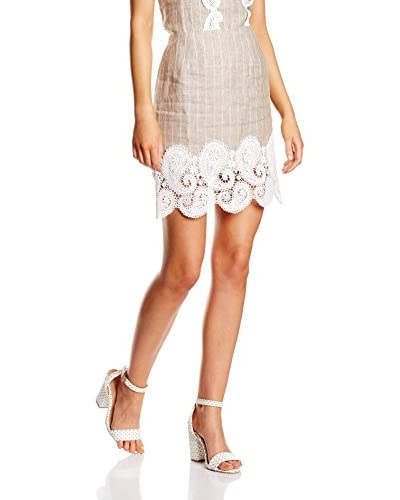 Pepa loves Rock Skirt Lace Denim Beige beige