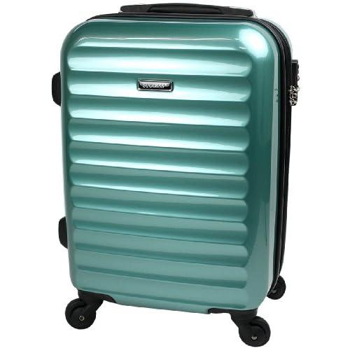 【SUCCESS サクセス】 TSAロック搭載 超軽量 スーツケース 小型 51cm Sサイズ 機内持込み 【ヴィアーノ2013】 鏡面ミラー加工 ダブルファスナーモデル (小型 51cm, ニューマリン)
