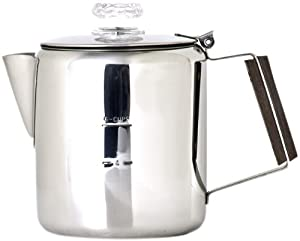 Chinook Timberline 6 Cup Stainless Steel Coffee Percolator by Chinook