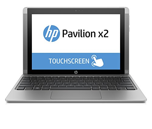 "HP Pavilion x2 10-n105nl Notebook, Windows 10, Processore Intel Atom Z8300, RAM 2 GB, eMMC da 32 GB, Schermo touchscreen 10.1"", Intel Graphics HD, Argento"