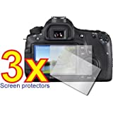 3x Canon EOS 60D Digital Camera Premium Clear LCD Screen Protector Cover Guard Shield Film Kit, No cutting is required! Perfect fit with satisfaction guaranteed!