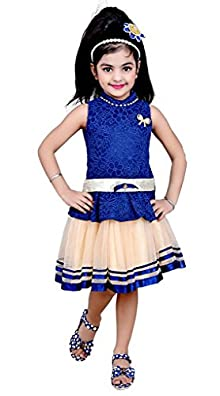 a53c86727ac Arshia Fashions Girls Dress Skirts top Two-Piece Set Party wear - Blue