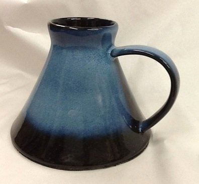 Travel Style Wide Bottom Pottery Mug - 13 oz